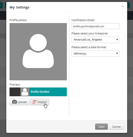 User photo_My settings_default